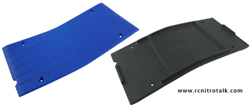 RPM Savage center skid plates - black and blue