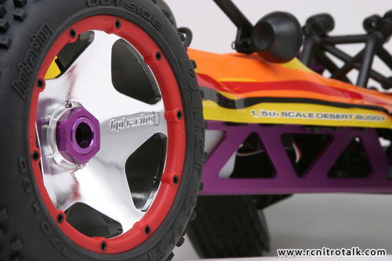HPI Baja 5B super star shiny wheels on HPI Baja 5B