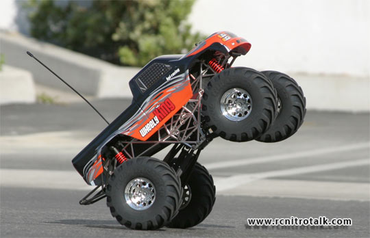 HPI Wheely King doing wheely