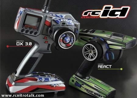 rcID radio skins. DX2.0/3.0 and Nomadio React radios