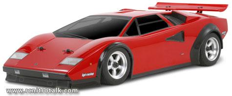 HPI Nitro RS4 3 18SS+ with Lamborghini Countach body nitro touring car