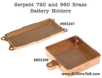 Serpent brass battery holder