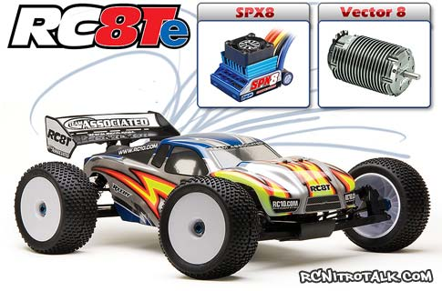 RC8Te with LRP brushless combo