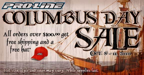 Proline Columbus day sale!