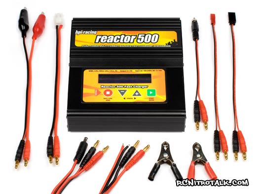 HPI Reactor 500 battery charger with cables