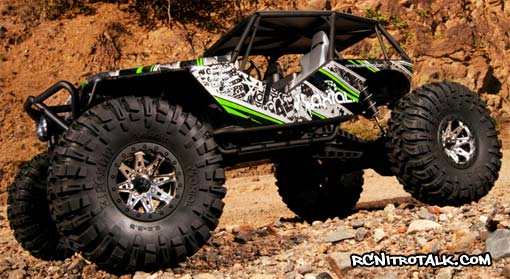 Axial Wraith on the rocks