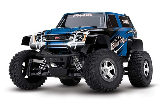 Blue Traxxas Telluride 4x4 trail truck