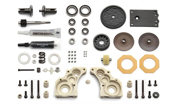 Associated RC10 Classic stealth transmission disassembled kit