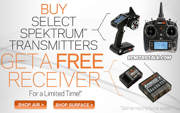 Free Spektrum receiver with purchase of select transmitter