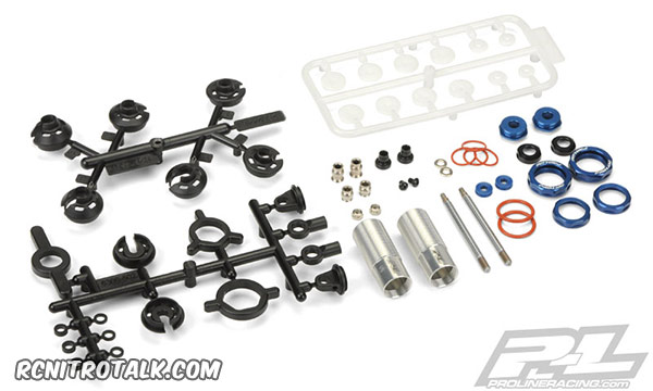 Proline Racing Pro-spec shock disassembled - 6267-01
