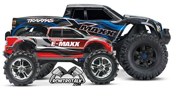 Traxxas X-Maxx compared to Traxxas E-Maxx