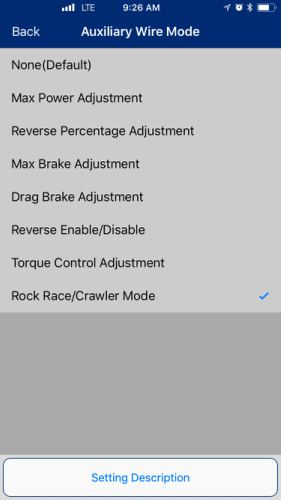 auxiliary wire mode ios