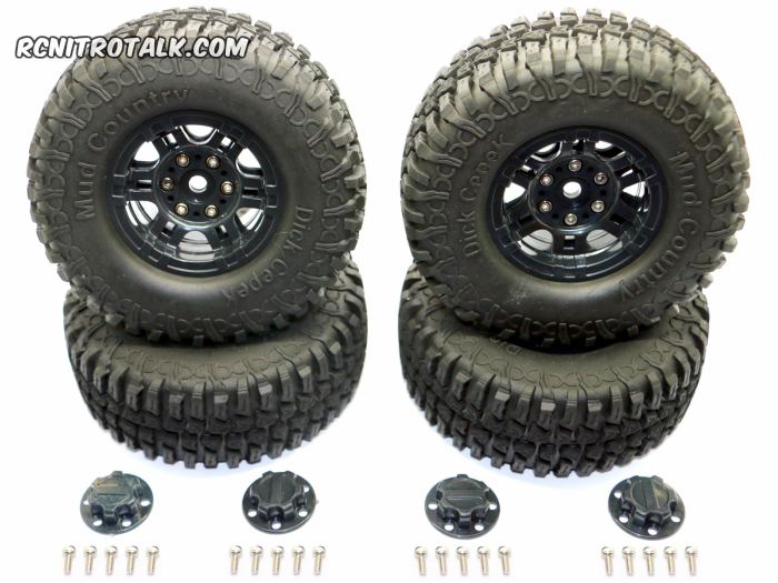 HRC Racing 1.9 Mud Country Tires black