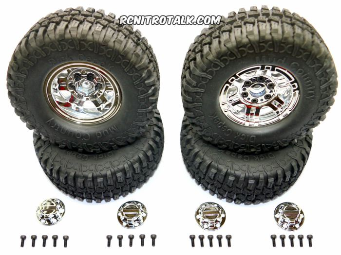 HRC Racing 1.9 Mud Country Tires chrome